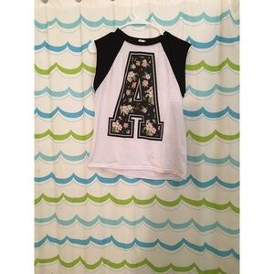 Letter A sleeveless top